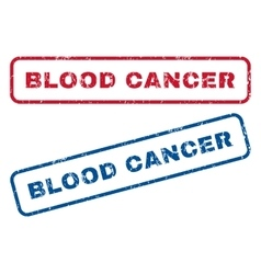 Blood cancer rubber stamps vector