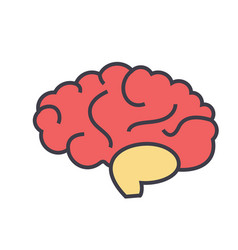 Brain head brainstorm mind idea generation vector