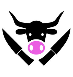 Butchery knives icon vector