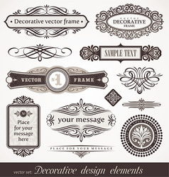 design elements page decor vector image