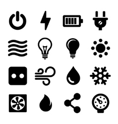 Electric Icons Set vector image vector image