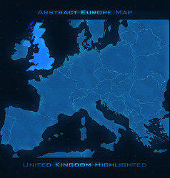 Europe abstract map united kingdom vector