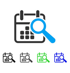 Find date flat icon vector