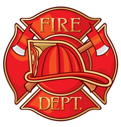 Fire Department or Firefighters Cross Symbol vector image vector image