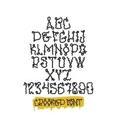 Graffiti font squeezer vector
