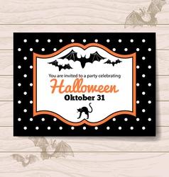 Halloween invitation vector image