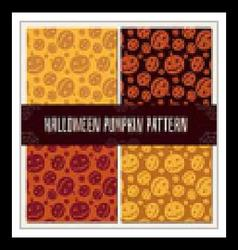 Halloween Pumpkin Pattern Set vector image vector image
