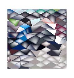 Jockey horse racing abstract low polygon vector