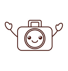 Kawaii graphic design camera studio icon symbol vector
