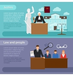 Law banners vector image vector image