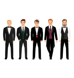 man in suit set vector image vector image