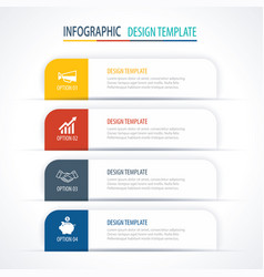 modern tab index infographic options template vector image