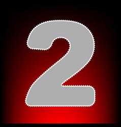 Number 2 sign design template elements postage vector