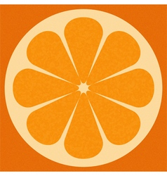 Orange surface vector