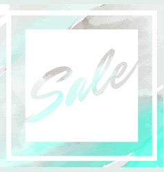 sale banner with abstract hand painted watercolor vector image vector image