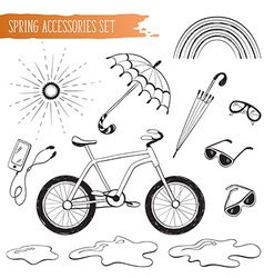 Spring accessories set vector