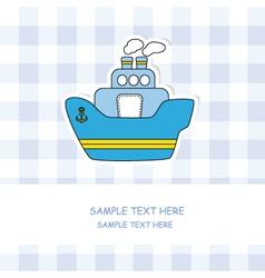 Steamboat vector