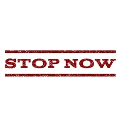 Stop now watermark stamp vector