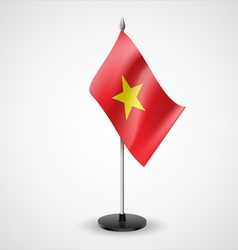 Table flag of vietnam vector