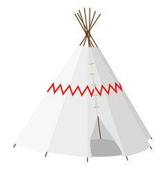 Wigwam with pattern vector image vector image