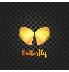 Isolated orange butterfly logo insects vector