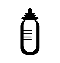 Baby pacifier bottle vector