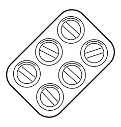Pills icon outline style vector