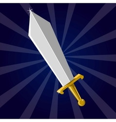 Shining sword vector