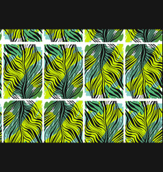 Hand drawn abstract tropical seamless vector