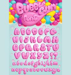 Font bubble gum vector