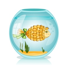 Goldfish in the bowl vector image
