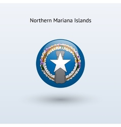 Northern mariana islands round flag vector