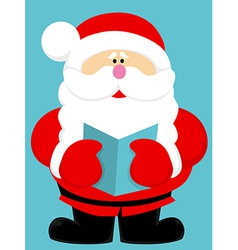 Cute cartoon santa claus vector