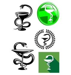 Medicine and pharmacy icons vector