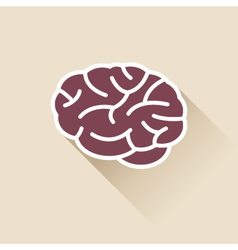 Simple brain icon vector