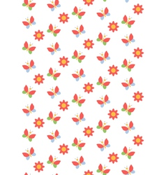 Spring seamless pattern with butterflies and vector