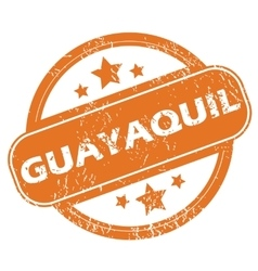 Guayaquil rubber stamp vector