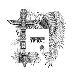Tribal Elements Frame vector image