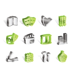 Different kind of art icons vector