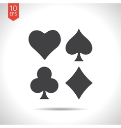 Game cards icon epsflat black0 vector