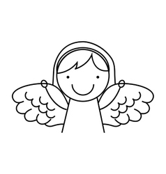 Angel girl character icon vector