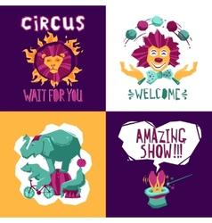 Circus design concept vector