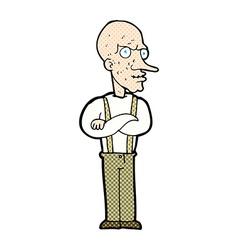 Comic cartoon mean old man vector