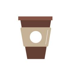 delicious coffee in plastic cup icon vector image