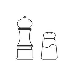 grinder and shaker for salt pepper vector image vector image