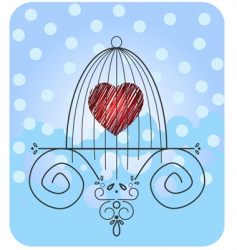 heart in cage vector image