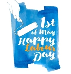 International labor day the first of may vector