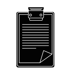 isolated clipboard documents vector image