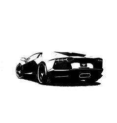 Lamborghini Aventator vector image vector image