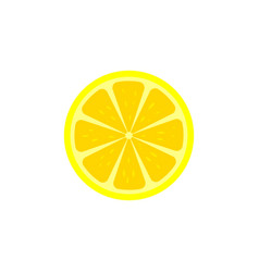lemon slice icon vector image vector image